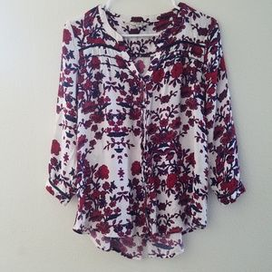 Lucky Brand Floral Button Down Top
